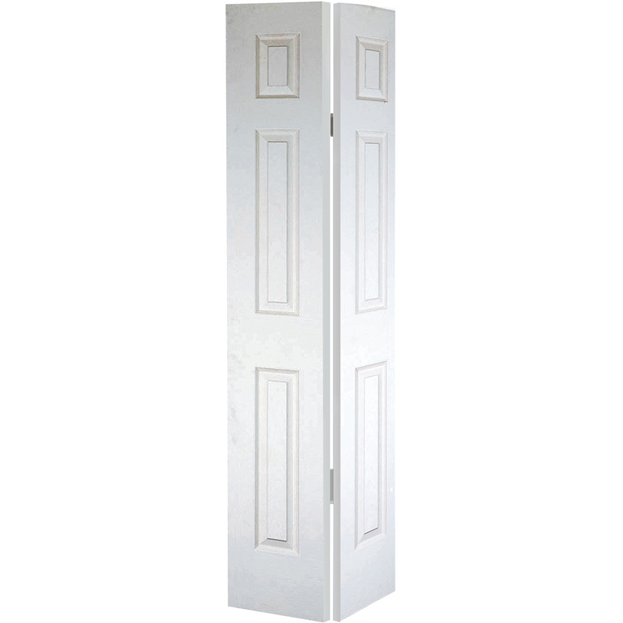 """Bifold Door Set 6-Panel Primed White 32"""" X 80"""""""