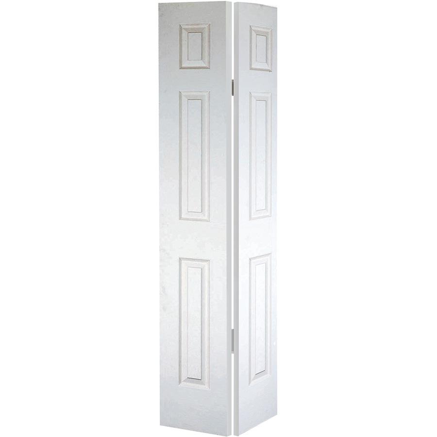 """Bifold Door Set 6-Panel Primed White 48"""" X 80"""""""