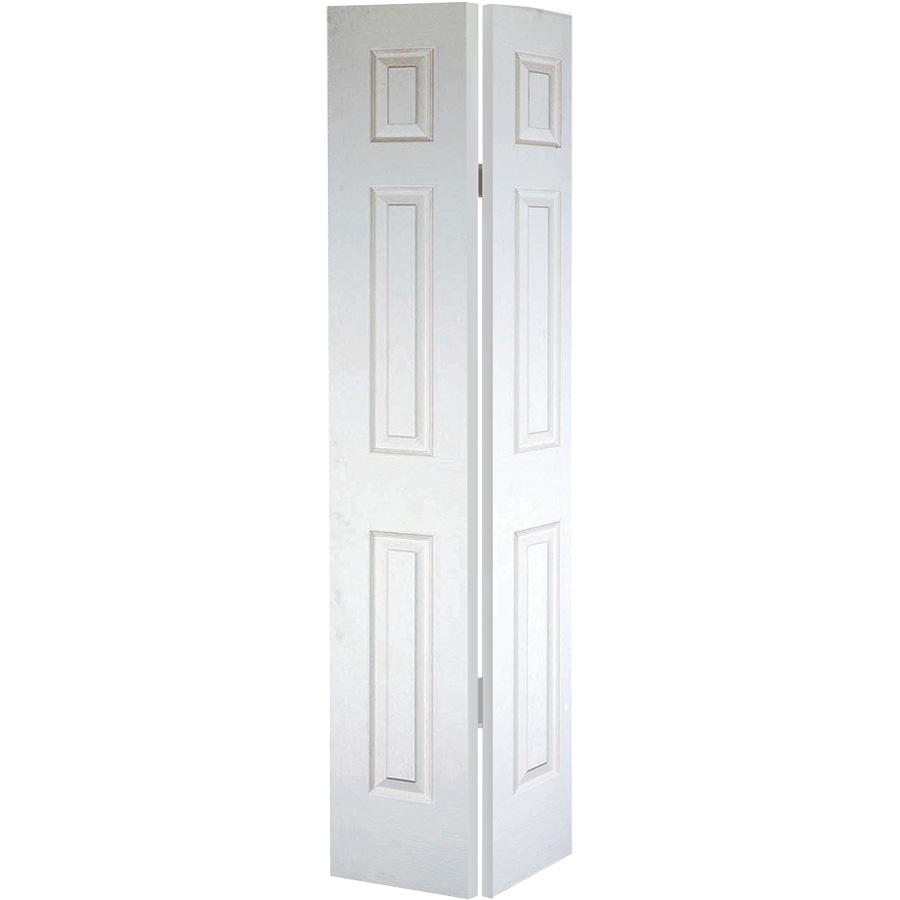 """Bifold Door Set 6-Panel Primed White 60"""" X 80"""""""