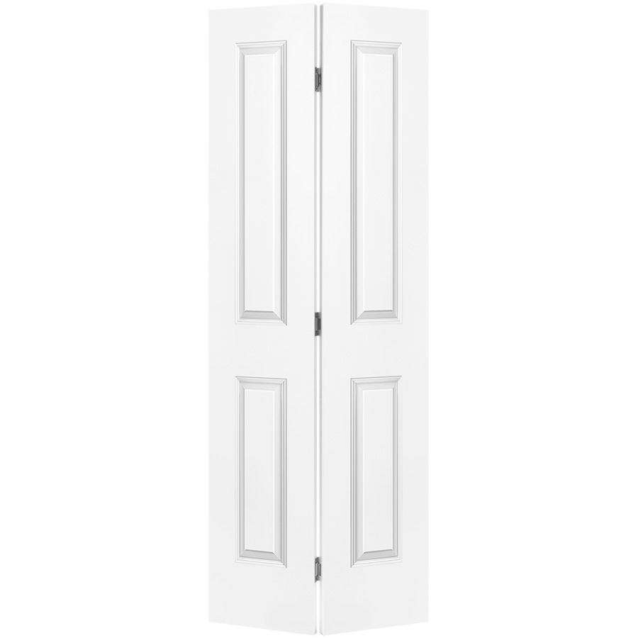 "Bifold Door Set 2-Panel Primed White 18"" x 80"""