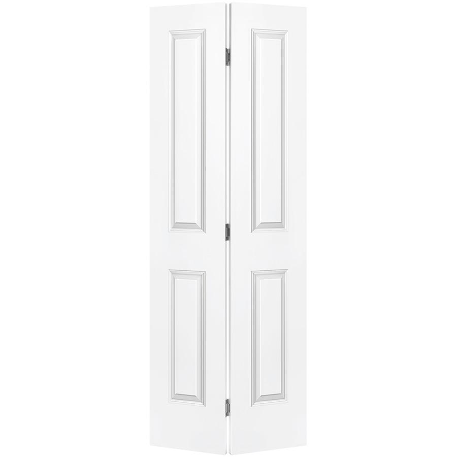 """Bifold Door Set 2-Panel Primed White 30"""" x 80"""""""