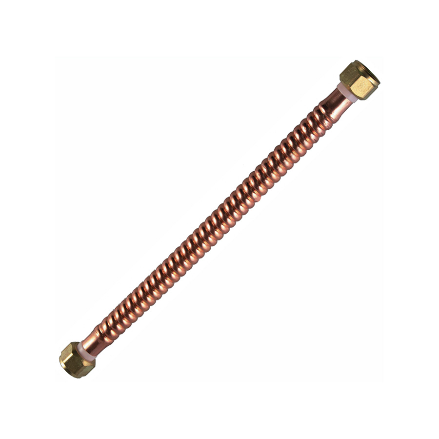 "24"" Copper Water Heater Connector 3/4"" FIP X 3/4"" FIP"