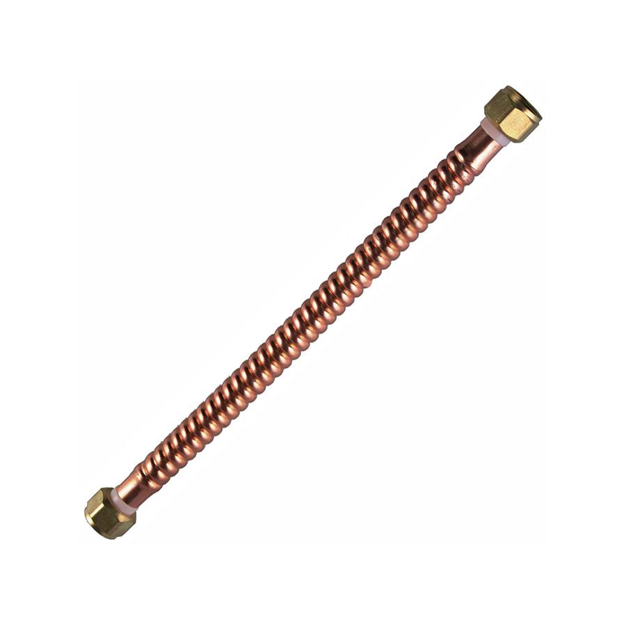 """24"""" Copper Water Heater Connector 3/4"""" FIP X 3/4"""" FIP"""