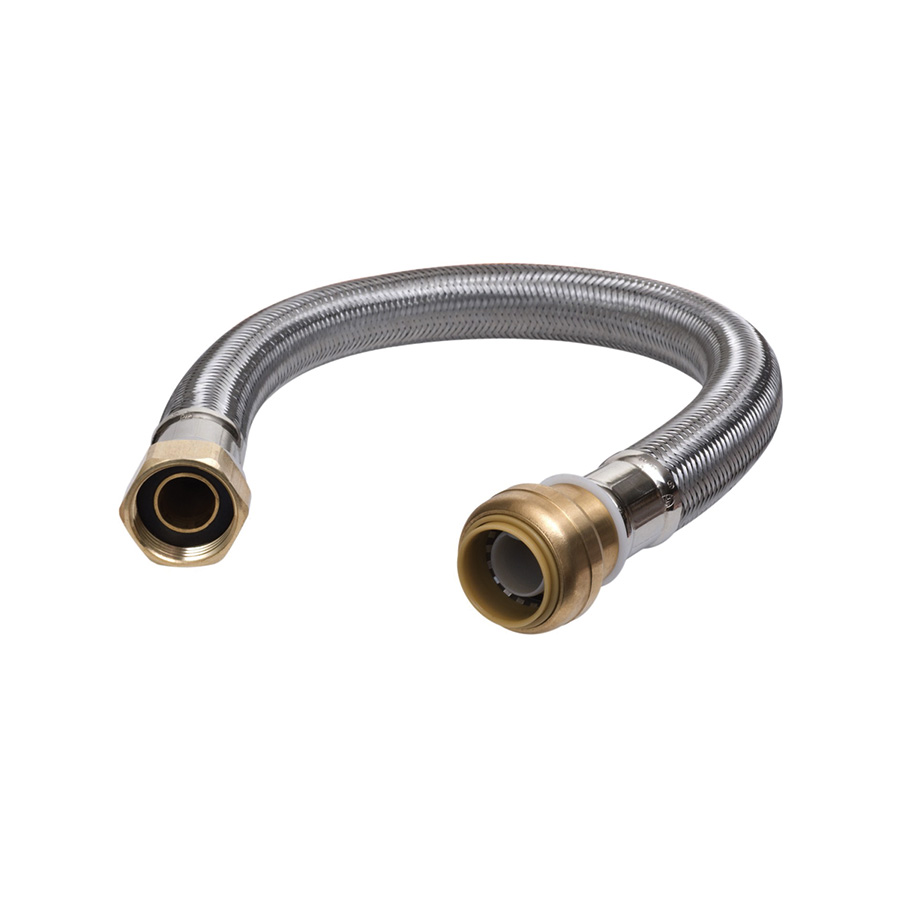 "24"" Water Heater Connector 3/4"" FIP x 3/4"" Push-Fit"