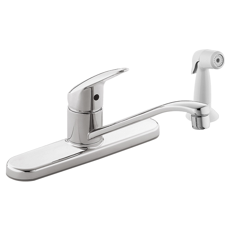 CFG Cornerstone Chrome Kitchen Faucet with White Spray