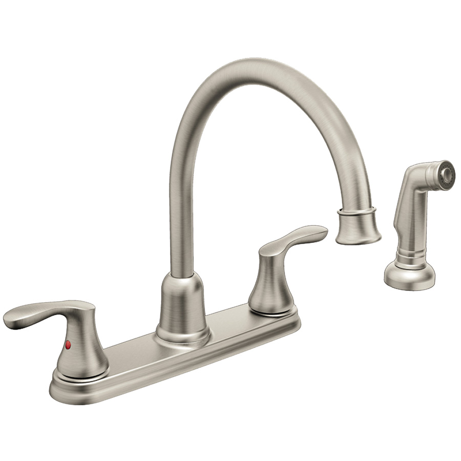 CFG Cornerstone Classic Stainless Kitchen Faucet with Spray