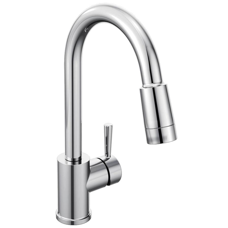 CFG Edgestone Chrome Pull-Down Spout Kitchen Faucet