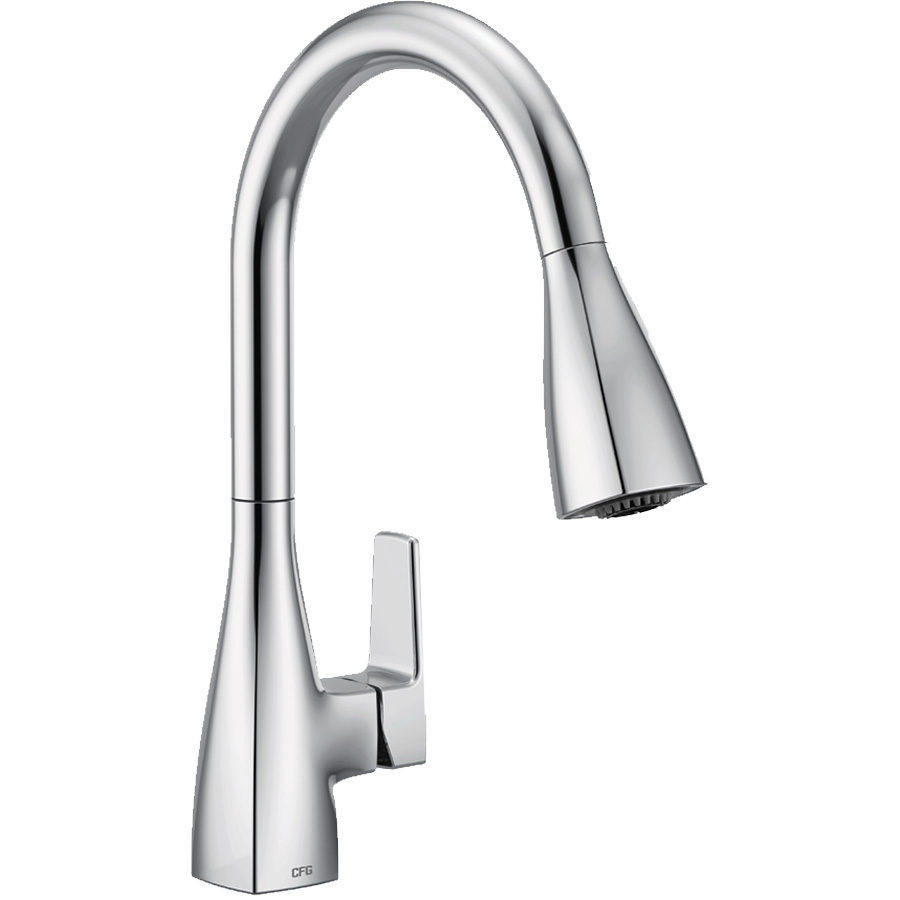 CFG Slate Chrome Pull-Down Spout Kitchen Faucet