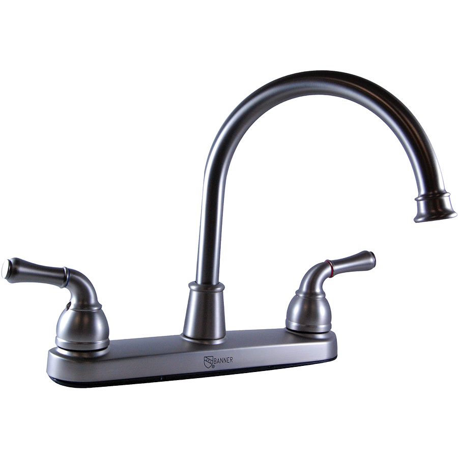 Banner Hi-Spout Brushed Nickel Kitchen Faucet