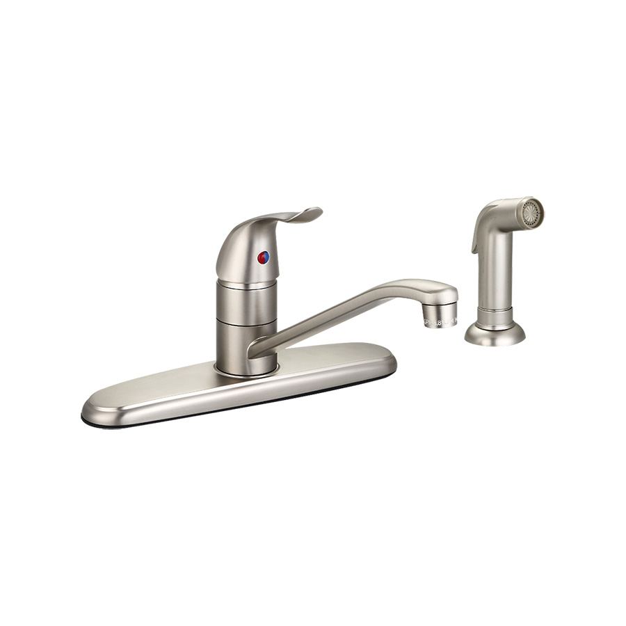 Banner Brushed Nickel Kitchen Faucet with Spray