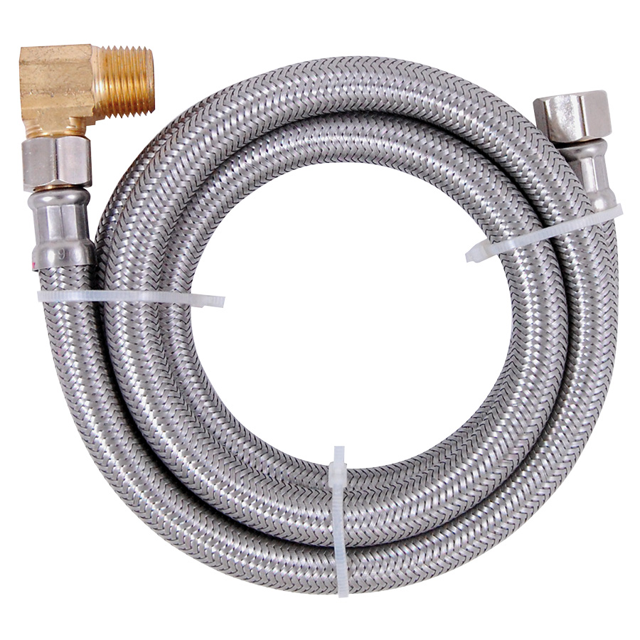 """48"""" Stainless Steel Dishwasher Supply Line with Elbow"""