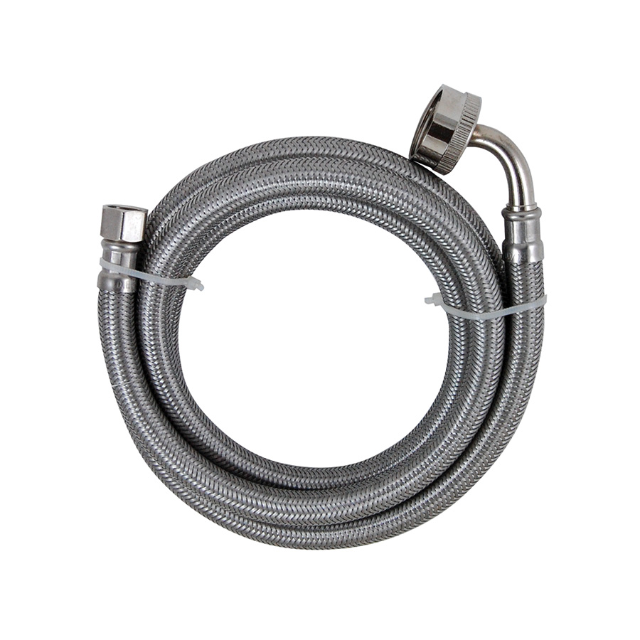 """72"""" Stainless Dishwasher Supply Line with Female Hose Thread"""