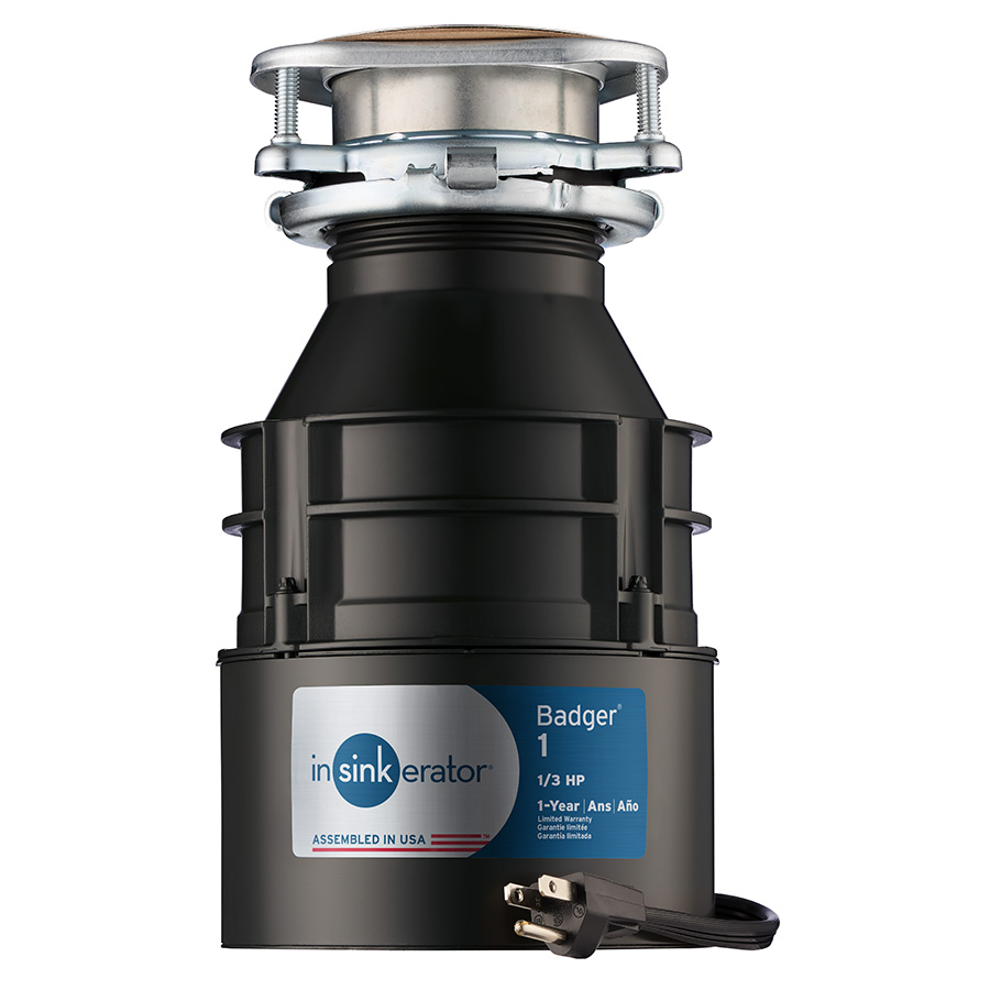 Badger I 1/3 HP Disposer with Power Cord