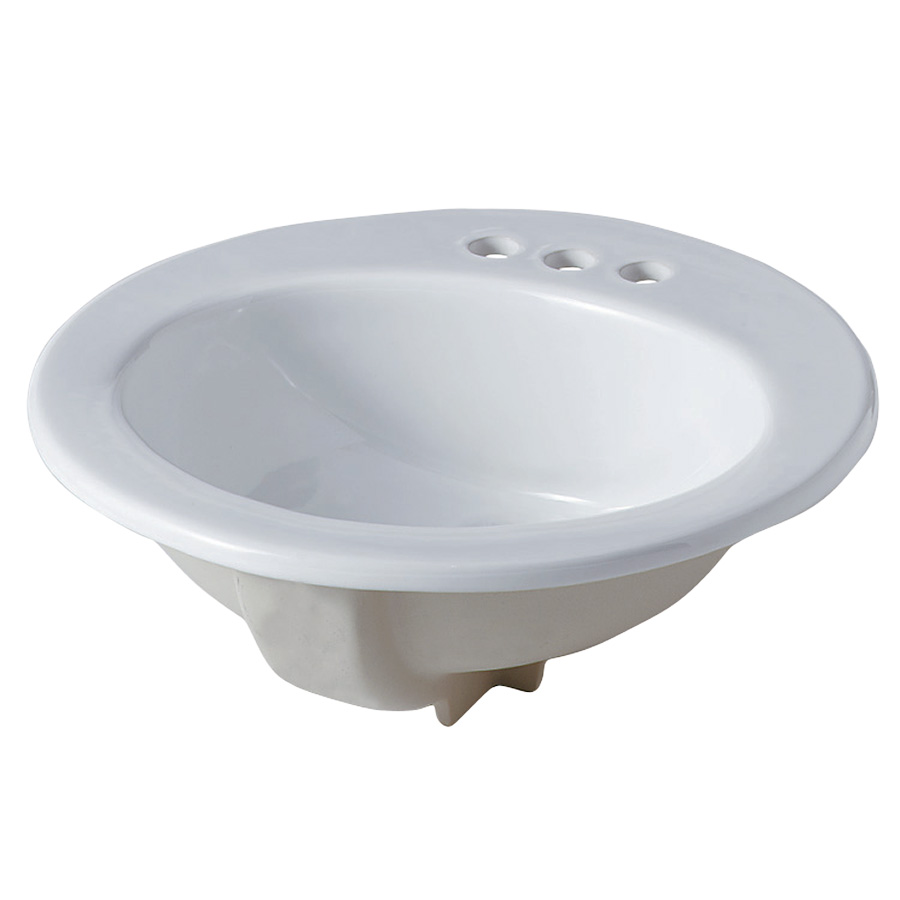 "17"" x 20"" Oval China Sink White"