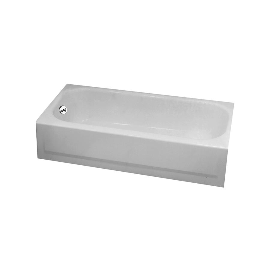 Bootz 5 Ft Steel Bathtub Left Hand Drain White