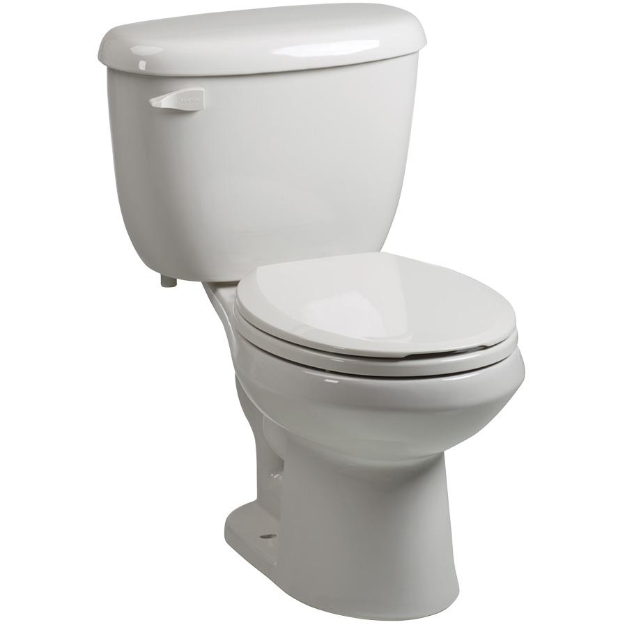 Briggs 1.28 GPF White Round Toilet Complete
