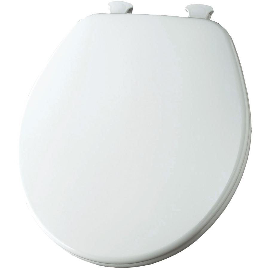 Church Wood Premium Quick-Change Round Toilet Seat White