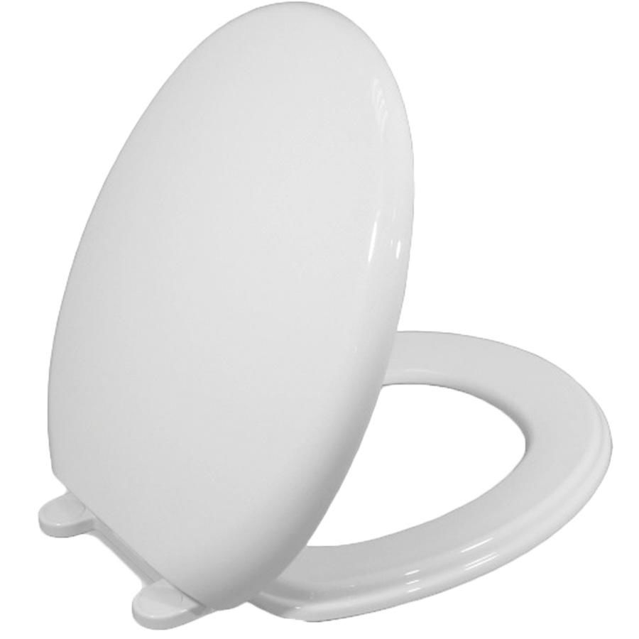 Church Plastic Slow-Close Round Toilet Seat White