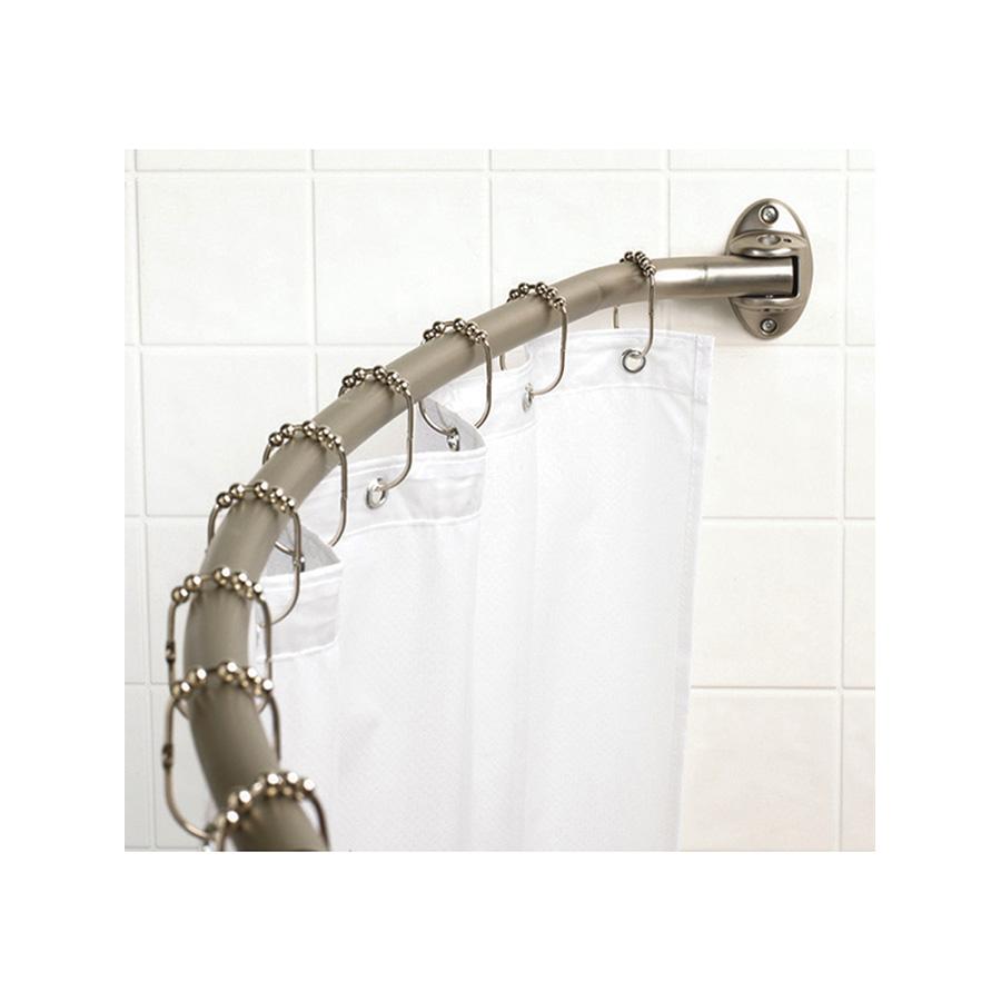 Brushed Nickel Adjustable Curved Shower Rod