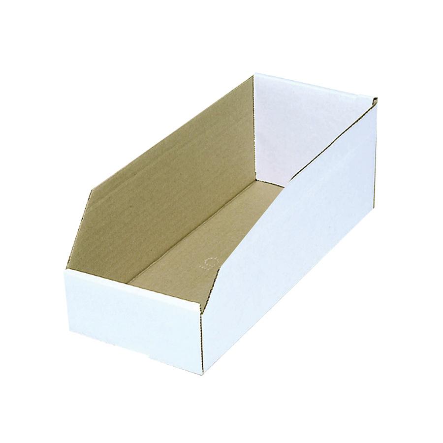 "Cardboard Bin Box 4"" x 12"" x 4"""