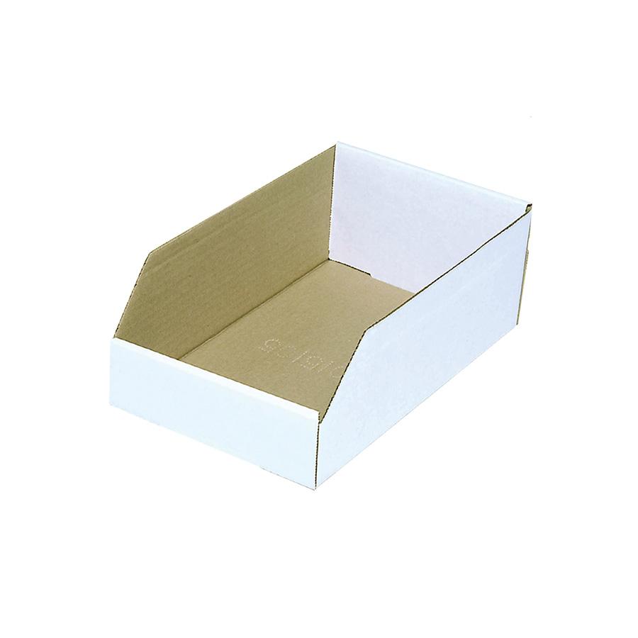 "Cardboard Bin Box 6"" x 12"" x 4"""