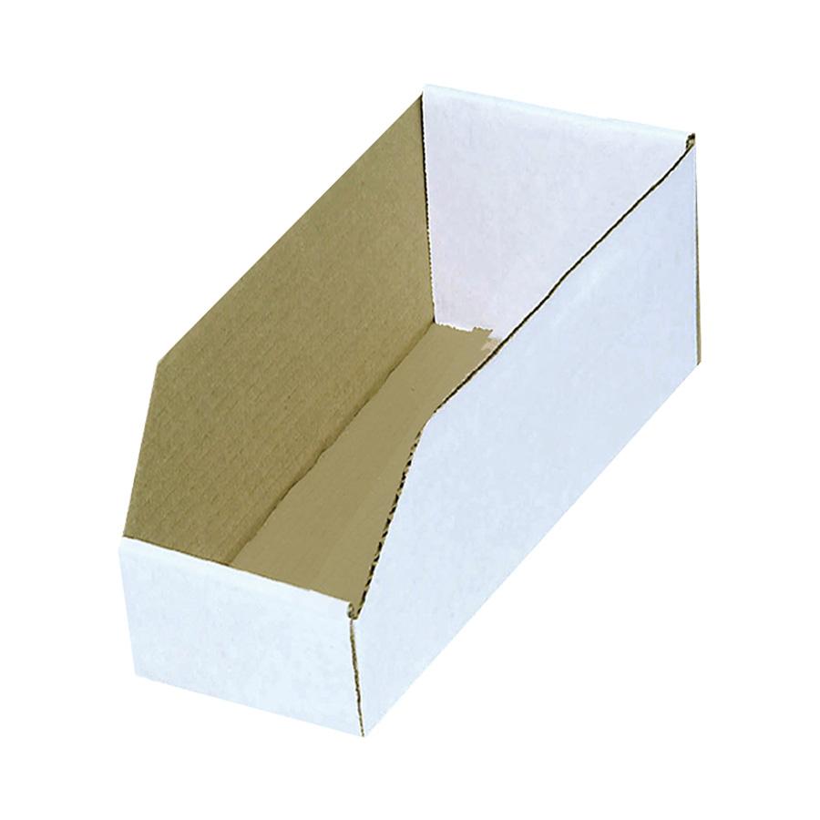 "Cardboard Bin Box 6"" x 18"" x 10"""