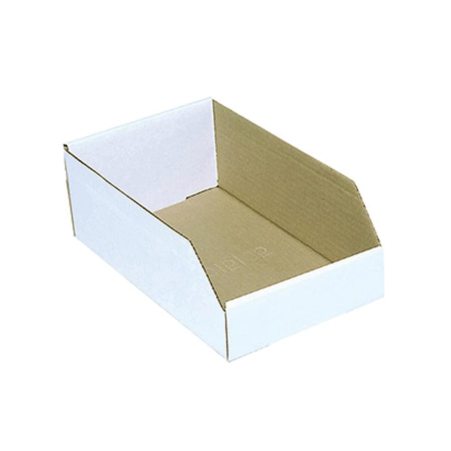 "Cardboard Bin Boxes 8"" x 18"" x 4"""