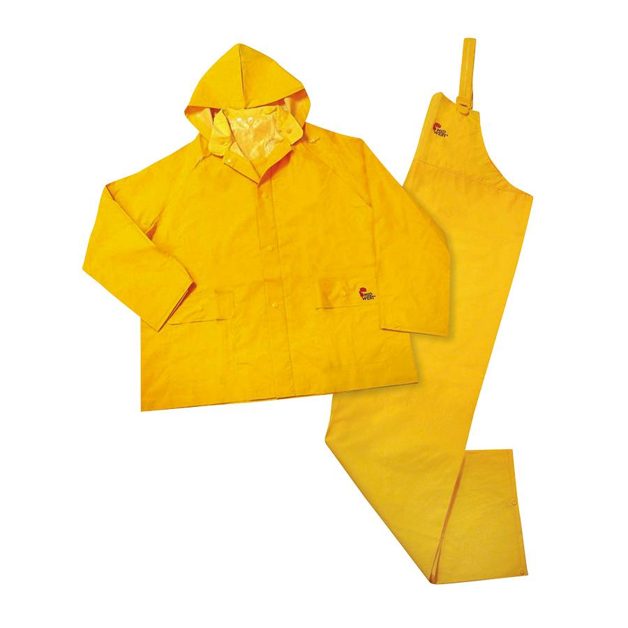 3-Piece Yellow Rain Suit Medium