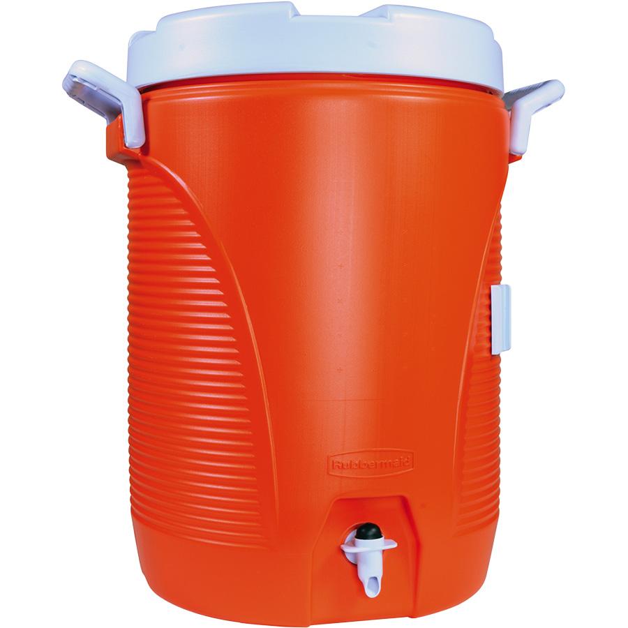 5-Gallon Orange Beverage Cooler