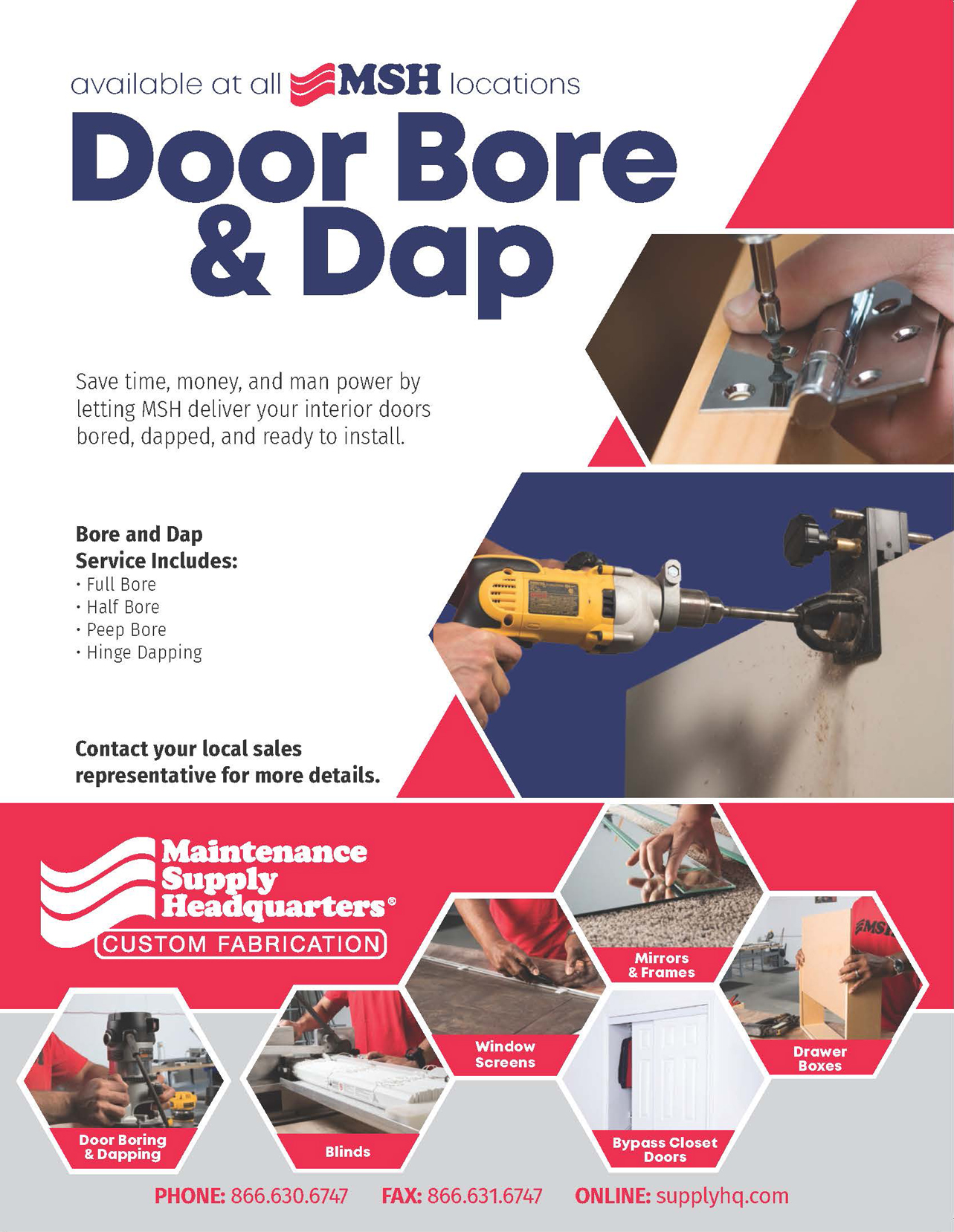 door boring and dapping flyer