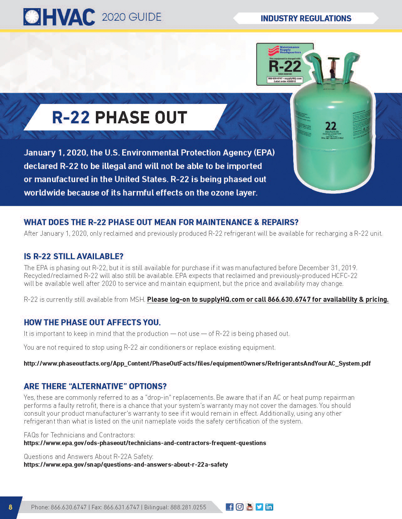 R-22 Phase Out Regulations Flyer