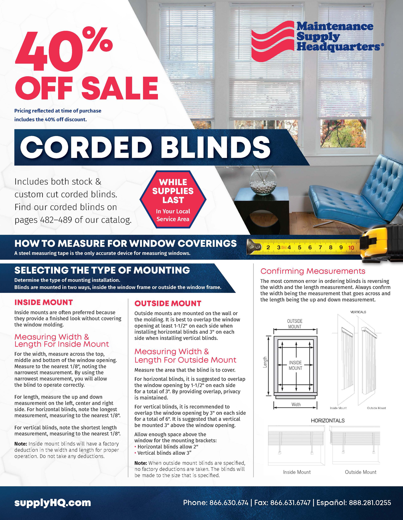 Corded Blinds Sale Flyer