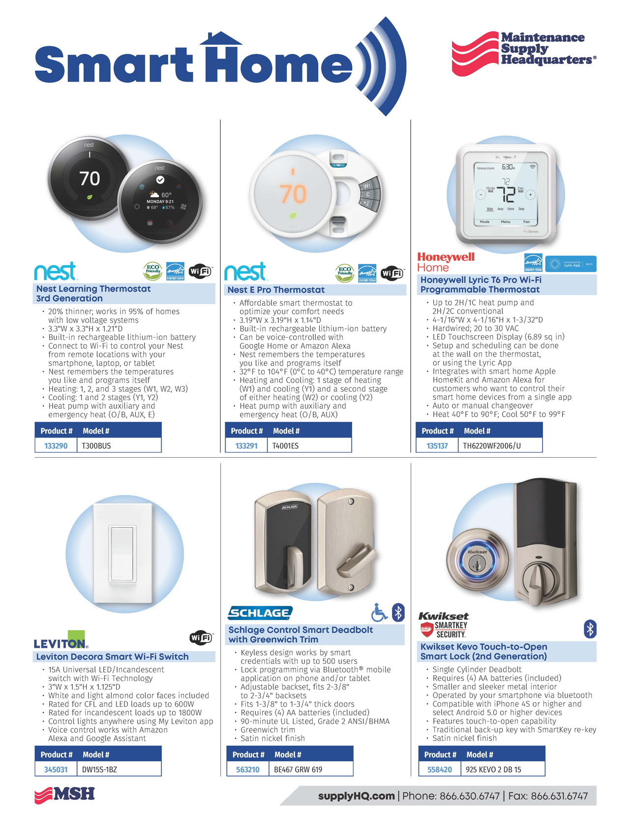 Smart Home product flyer