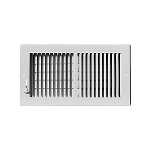 "Sidewall/Ceiling Register — Two Way White  10"" x 4"""