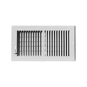 """Sidewall/Ceiling Register — Two Way White 10"""" x 6"""""""