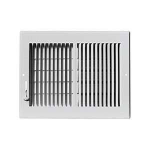 "Sidewall/Ceiling Register — Two Way White  10"" x 8"""