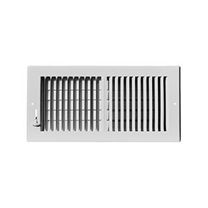 "2-Way White Sidewall/Ceiling Register 16"" x 8"""