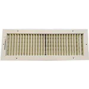 "2-Way White Sidewall/Ceiling Register 20"" x 6"""