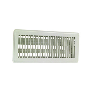"Floor Register with Damper White 4"" x 10"""