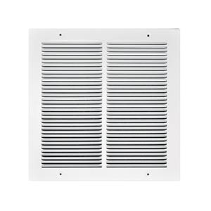 "Return Air Stamped Grille White 12"" x 12"""