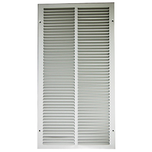 "Return Air Stamped Grille White 12"" x 24"""