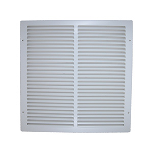 "Return Air Stamped Grille White 14"" x 6"""