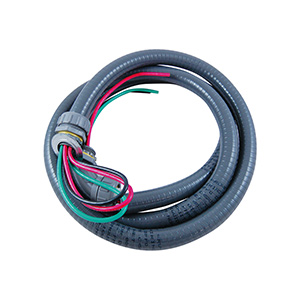"A/C Condenser Whip 1/2"" x 6 Ft, #10 THHN Wire"