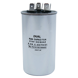 370V Round Dual Capacitor 20/5 MFD