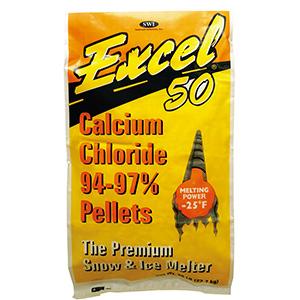 Ice Melt Excel Calcium Chloride 50 lb Bag