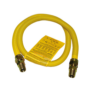 "Gas Connector with Yellow Coating 1/2"" MIP x 1/2"" MIP x 48"""