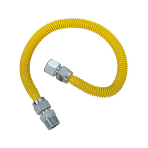 Gas Connector with Excess Flow Valve 1/2 FIP x 1/2 MIP x 48""
