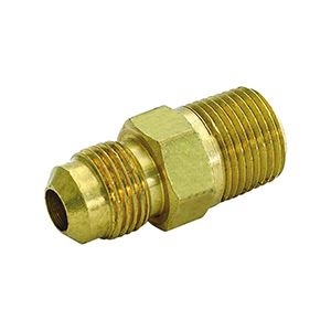 "Brass Gas Connection Adapters 5/8"" OD Flare x 3/4"" MIP"