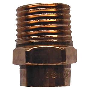"""Copper Male Adapter 3/4"""" I.D. Sweat x 1/2"""" MIP"""
