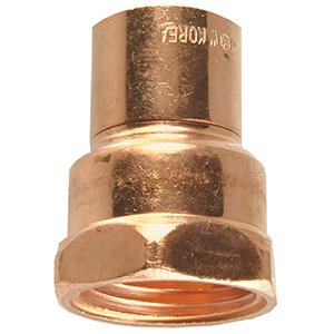 """Copper Female Adapter 3/4"""" I.D. Sweat x 3/4"""" FIP"""